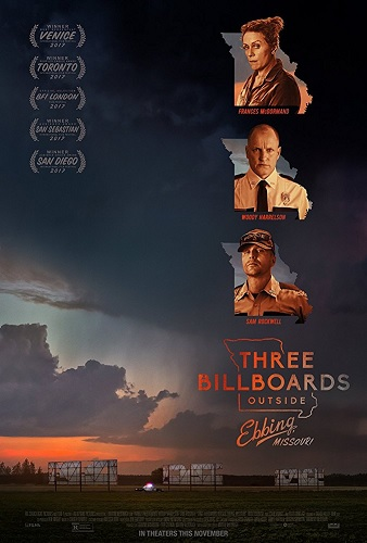 Dec 2017: Three Billboards Outside Ebbing, Missouri