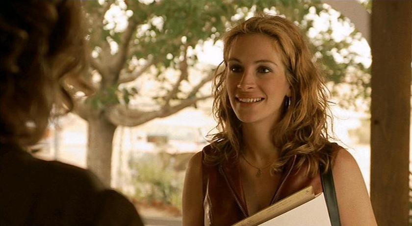 "When Walter Benjamin wrote about ""aura,"" Julia Roberts as Erin Brockovich is"